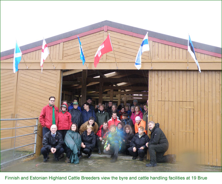 Finnish and Estonian Highland Cattle Breeders visit Lewis and North Uist Folds